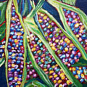 Rainbow Corn Art Print