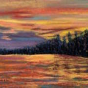 Rainbow Evening Art Print