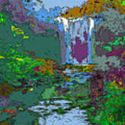 Rainbow Falls Purple Art Print