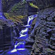 Rainbow Falls Watkins Glen State Park Art Print