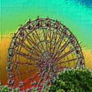 Rainbow Ferris Wheel Art Print