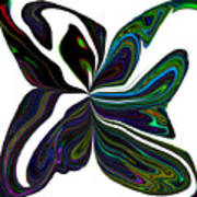 Rainbow Firefly Abstract Art Print