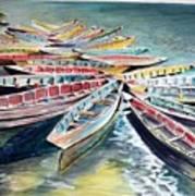 Rainbow Flotilla Art Print