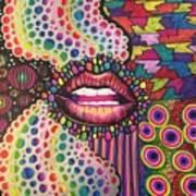 Rainbow Garden Art Print