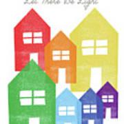 Rainbow Holiday- Art By Linda Woods Art Print