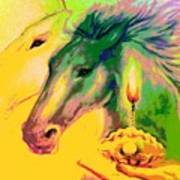 Rainbow Horses And The Pearl Of Light Art Print
