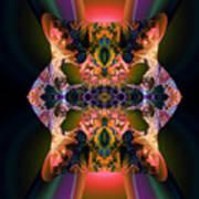 Rainbow Hydranga Abstraction Print by Claude McCoy