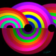 Rainbow In 3d Art Print