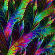 Rainbow Leaves Art Print