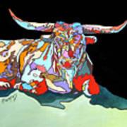 Rainbow Longhorn Art Print
