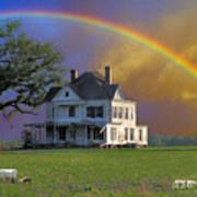 Rainbow Meadow Art Print