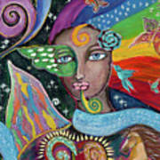 Rainbow Muse Art Print
