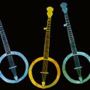 Rainbow Of Banjos Art Print