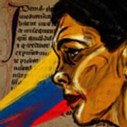 Rainbow Of Words Art Print
