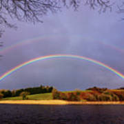 Rainbow On The Double Art Print