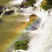 Rainbow On The Falls Art Print