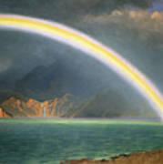 Rainbow Over Jenny Lake Wyoming Art Print by Albert Bierstadt