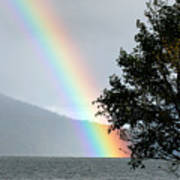 Rainbow Over Odell Art Print