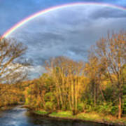 Rainbow Over The River Art Print