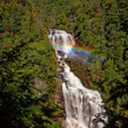 Rainbow Over Whitewater Falls Art Print