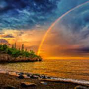 Rainbow Point Art Print