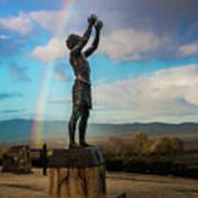 Rainbow Reach To The Sky  Art Print