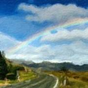 Rainbow Road - Id 16217-152055-0118 Art Print