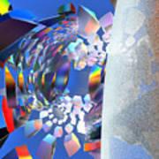 Rainbow Roller Coaster Ride By Jammer Art Print