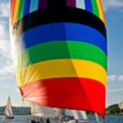 Rainbow Sail Art Print