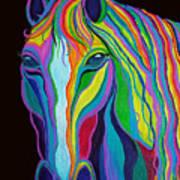 Rainbow Stallion Art Print