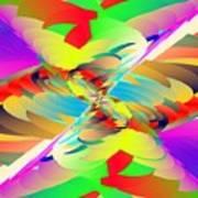 Rainbow Tornado Art Print
