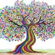 Rainbow Tree Friends  Art Print