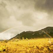 Raindrops In Rainbows Art Print