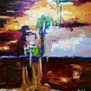 Raining Colours Art Print
