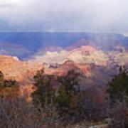 Raining In The Canyon Art Print