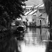 Raining On The Canal Art Print