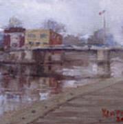 Rainy Day At Tonawanda Canal Art Print