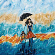 Rainy Day Blues Art Print