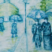Rainy Day Impression Art Print