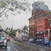Rainy Day In Downtown Brampton On Art Print