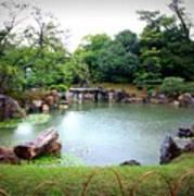 Rainy Day In Kyoto Palace Garden Art Print