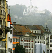 Rainy Day In Lucerne Art Print