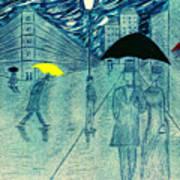 Rainy Day In The City Art Print