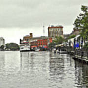 Rainy Day In Wilmington Art Print