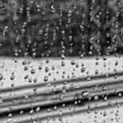 Rainy Day On The Train Art Print