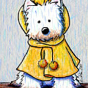 Rainy Day Westie Print by Kim Niles