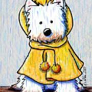 Rainy Day Westie Art Print