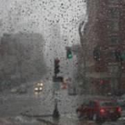 Rainy Days In Boston Art Print