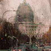 Rainy Dc Art Print