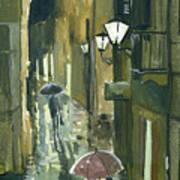 Rainy Evening In Kotor Art Print